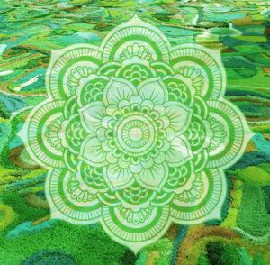 Doppio Mandala di sale colorato a Trieste, <br>per la salute polmonare