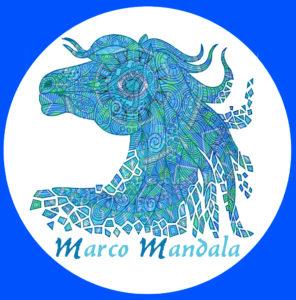 Marco Mandala a San Giovanni. In onore del Cavallo Blu salvato grazie ai matti. Che salvò i matti.