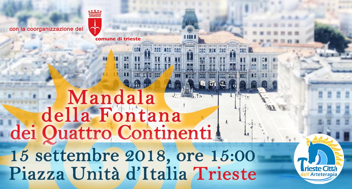 Mandala di sale colorato in Piazza Unità a Trieste