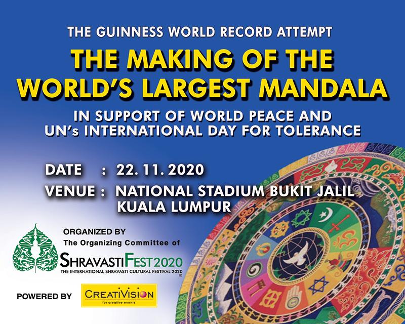 In Malesia arriva il Mandala più grande del mondo